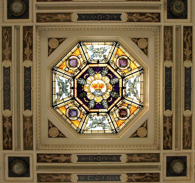 Lo splendido lucernario Liberty delle Terme Regina